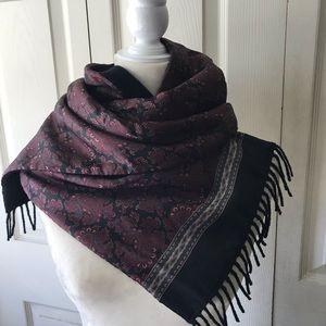 Vintage Italian Silk and Wool Scarf